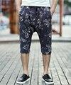 Men Shorts Summer cotton Beach Shorts brand hip hop jogger causal Flower print Swimsuit  Causal Tracksuit  2016