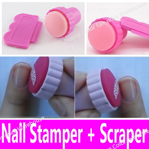 Nail art stamping stamper scraper set polish nail decoration tool nail art stamping stamper scraper set polish nail decoration tool kit for kids girls women soft prinsesfo Choice Image