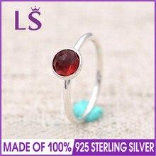 LS 100% 925 Sterling Silver July August September Droplet Birthstone Ring For Women DIY Fashion Rings.Christmas Wedding Rings N