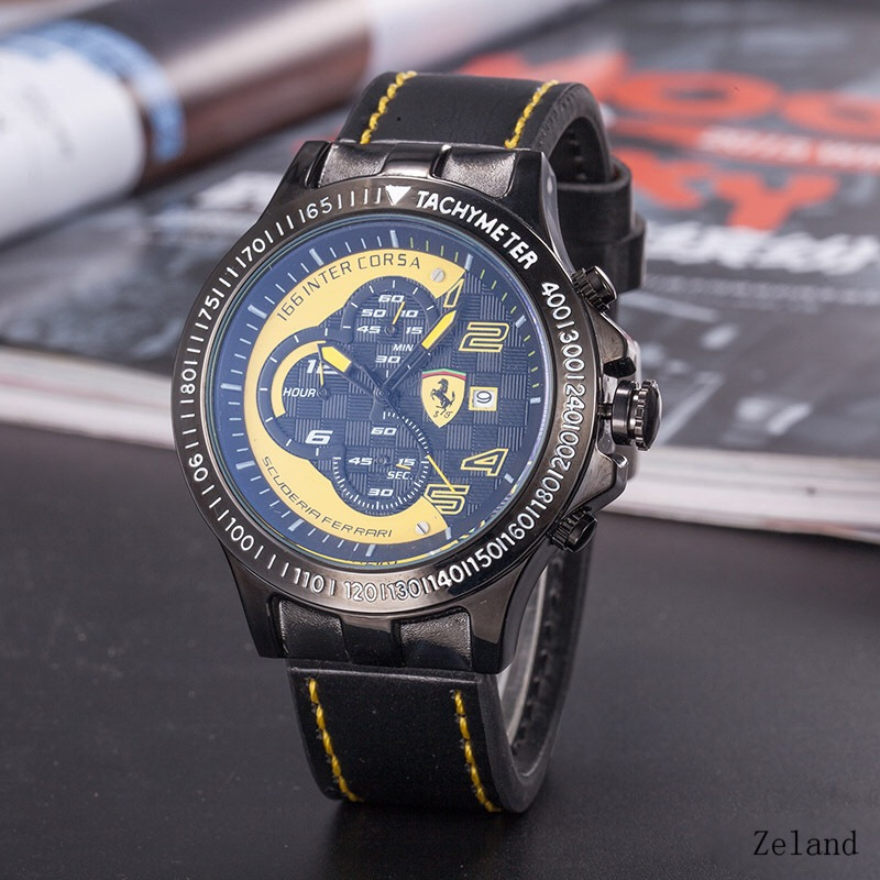 Men Waterproof Quartz Watches Fashion High Quality Multi-Functional Wristwatch Men's Casual Sports Timer Watches R5632873 high quality outdoor sports leisure fashion men watches multi functional quartz wrist watch creative