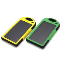 ISHOWTIENDA Newest 8000mAh 5V 1A Portable Waterproof Solar Charger Dual USB External Battery Power Bank Security