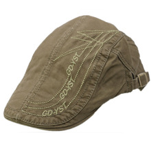 HUOBAOSummer Fashion Cotton Berets Caps For Men Casual Peaked letter embroidery Hats Casquette Cap
