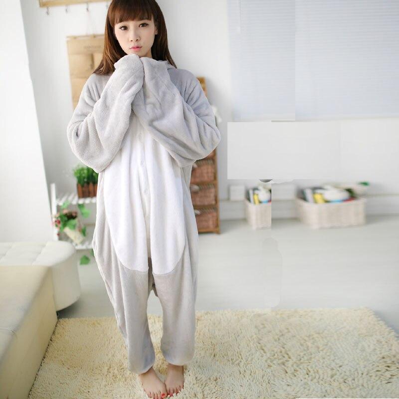 Fancy Grey Sea Lion Kigurumi Flannel Animal Onesies Soft Women Pajamas Party Bodysuit Cosplay Unisex Sleepwear Halloween Pyjamas (5)