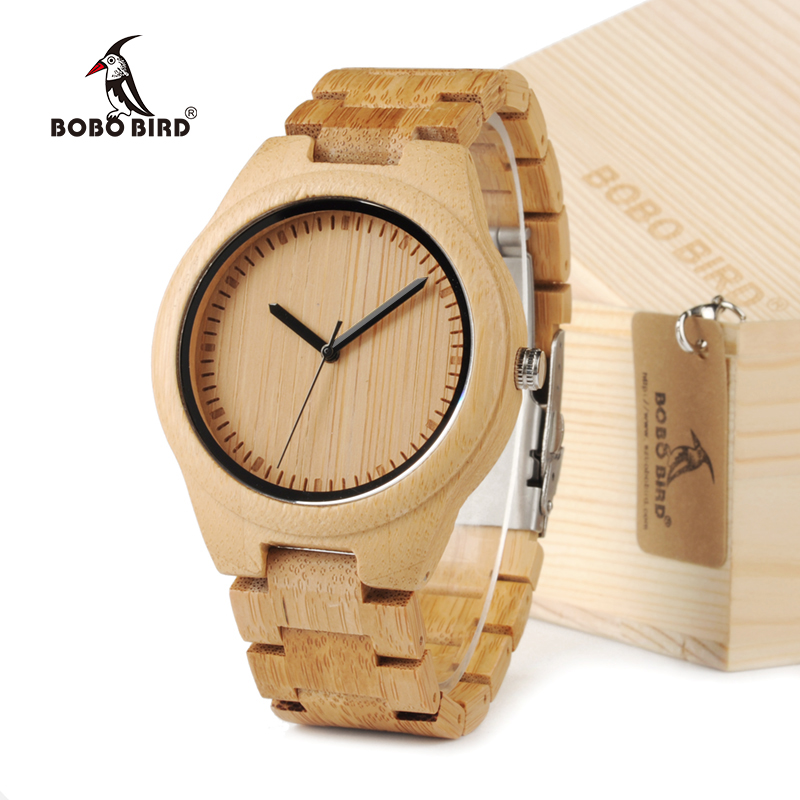 BOBO BIRD Men Dress Bamboo Watches Luxury Men's Top Brand Designer Quartz Watch With Bamboo Strap For Gift bobo bird luxury designer watches men style wooden watch wood strap wristwatch with paper gift box relogio masculino brand top