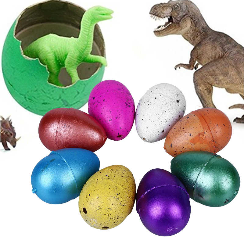 10pcs Magic Tricks Hatching Growing Dinosaur Add Water Grow Dino Egg Cute Children Kid Toys Random Color