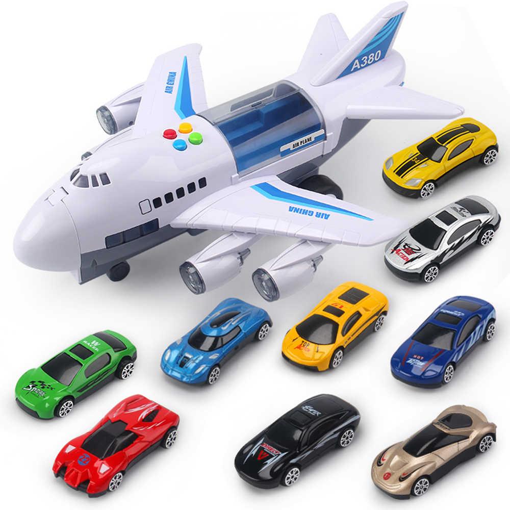 2019 музыкальная история моделирование трек инерция детская игрушка самолет большой размер пассажирский самолет дети лайнер игрушка автомобиль Бесплатный подарок карта
