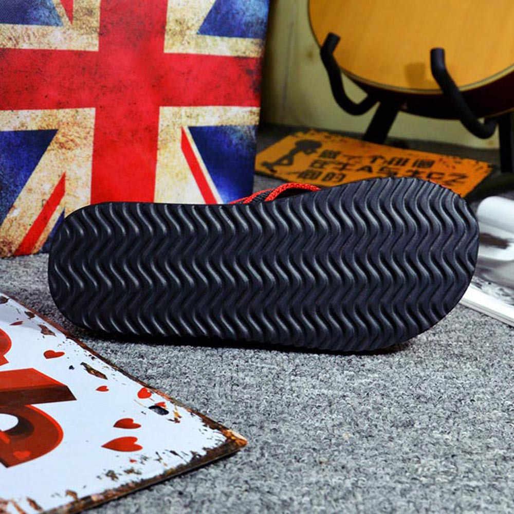 Zomer Slippers mannen Slippers Rood/Kaki Outdoor Indoor Platte Slippers Strand Sandalen 2019 Mannen Schoenen Chinelo Masculino