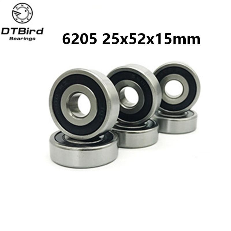 1pcs 6205RS hybrid ceramic ball  Deep Groove Double Rubber Sealed Motor Bearing 25x52x15mm 10pcs 5x10x4mm metal sealed shielded deep groove ball bearing mr105zz