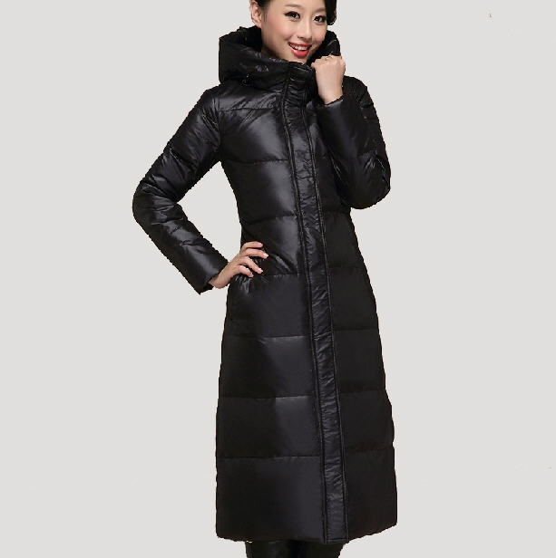 Women'S New Fashion Super Long cotton Jacket Middle-Aged Women Plus Size Winter Thick Warm cotton Coat Over-The-Knee 3XL H3291