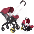 4 In 1 Auto Sitz Kinderwagen Baby Wagen Baby Stubenwagen Wogen Tragbare Reise System Doona Kinderwagen mit Komfort Baby Auto sitz