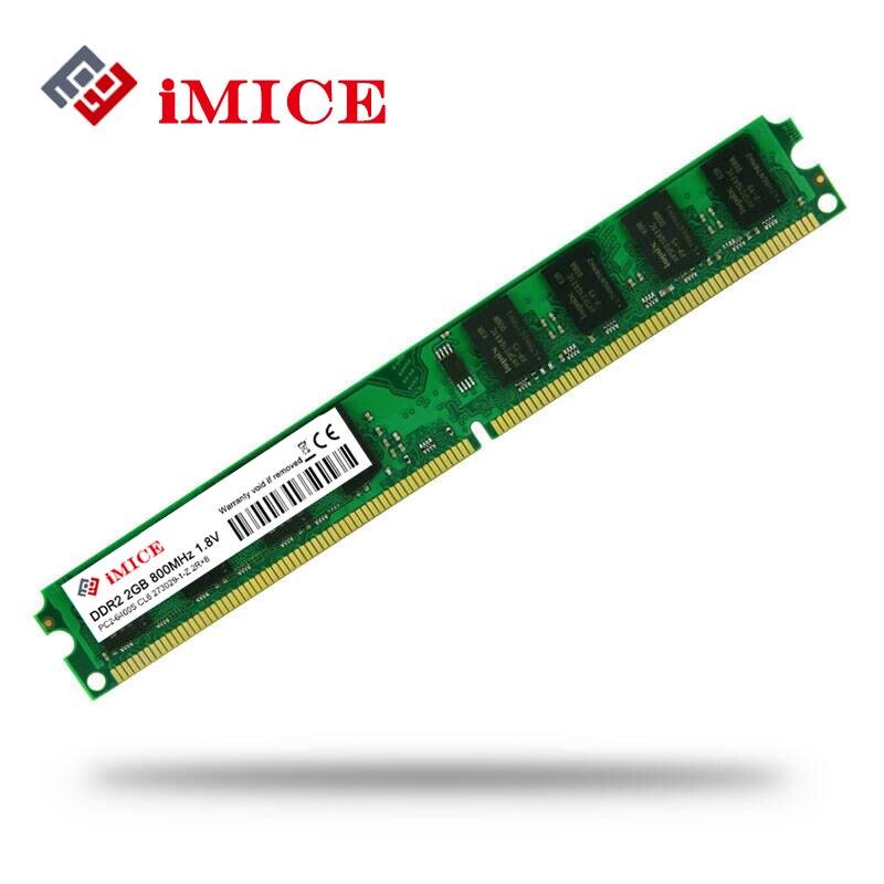 IMICE PC Desktop Usato DDR2 2 GB di Ram 800 MHz 667 Mhz PC2-5300U Memoria CL5 Pin 1.8 V Per Intel AMD Computer Compatibile memoria