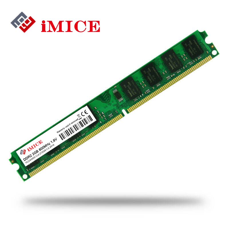 IMICE PC Desktop Usato DDR2 2 GB di Ram 800 MHz 667 Mhz PC2-5300U Memoria CL5 Pin 1.8 V Per Intel AMD Computer Compatibile memoria