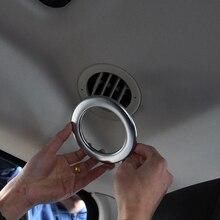 2 шт. Chrome подкладке аксессуар воздуха на выходе кольцо отделка Стикеры для Land Rover Discovery 4 2010-2016, стайлинга автомобилей