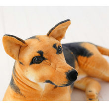 Stuffed Animal Plush Simulation German Shepherd Dog Doll Plush Toy Creative Stuffed Army Dog Toy Kawaii Gift For Kid Girl Boy