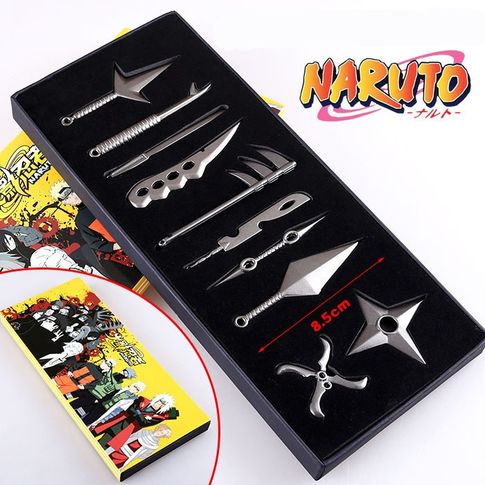 10pcs/set Cosplay Must-own Collection Suit Cosplay Naruto Ninja Sasuke/Kakashi Weapons Toy Stage Performance Props Child Gift