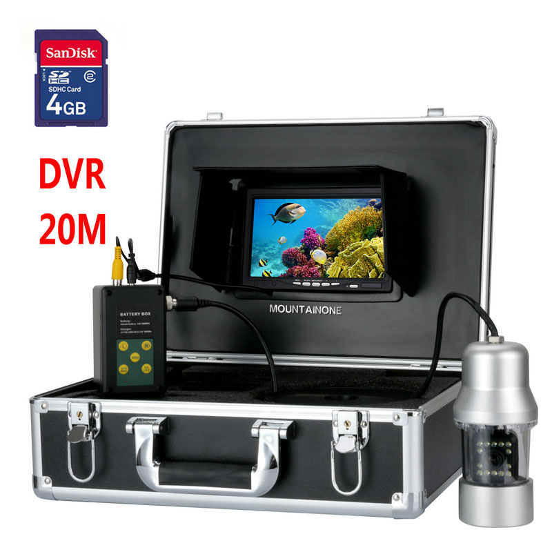 20M 7 TFT DVR Recorder Underwater Video  Fishing Camera System 0- 360 Degree View, Remote Control, 14x White Lights20M 7 TFT DVR Recorder Underwater Video  Fishing Camera System 0- 360 Degree View, Remote Control, 14x White Lights