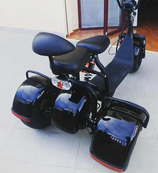 sc09 1500w 60v 20ah lithium battery electric 3 wheels big tire tricycle city scooter ship from holland