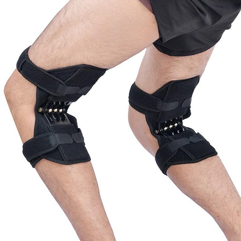 Apoio da articulação do Joelho Almofadas Rebote Powerleg reforço do joelho brace suporte ortofit estabilizador joelheira De Elevador de Poder