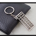 Criativo Swan pan Abacus Bead arithmetics Metal Keychain Aotomotive chaveiro anel chave Fob titular