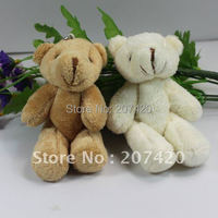 13cm cute lovely joint bear toys with bow tie.bear dolls,40pcs/pack