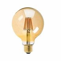 Gold Tint 8W 2200K G125 LED Filament Bulb Edison Globe Shape E26 Base 100V For Japan