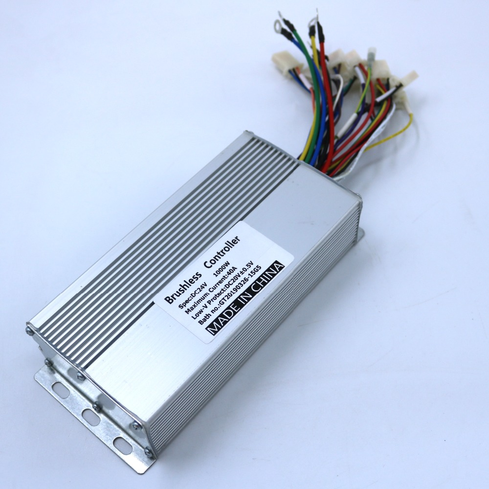 GREENTIME 24V 1000W 40Amax BLDC Motor Speed Controller 15 MOSFET Electric Bicycle Dual Mode Controller