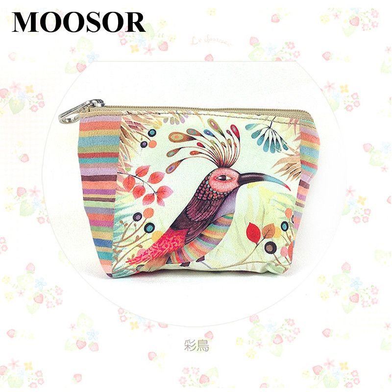 2017 Women Wallet Canvas Coin Purse Travel Organizer 11 Colors Floral Women Storage Bag Day Clutch Card Holders Women Purse H14
