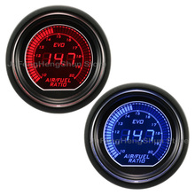 2 52mm Car Air Fuel Ratio Gauge Blue Red LED Light 12V Tint Lens Auto Digital Electronic instrument Air-fuel ratio Meter