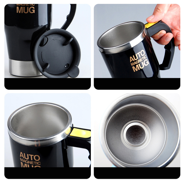 Self Stirring Mug Stainless Steel Double Wall  2