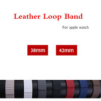 For Apple Watch Band Strap 42 38 Mm Leather Loop Bracelet Belt Watchband For IWatch 3