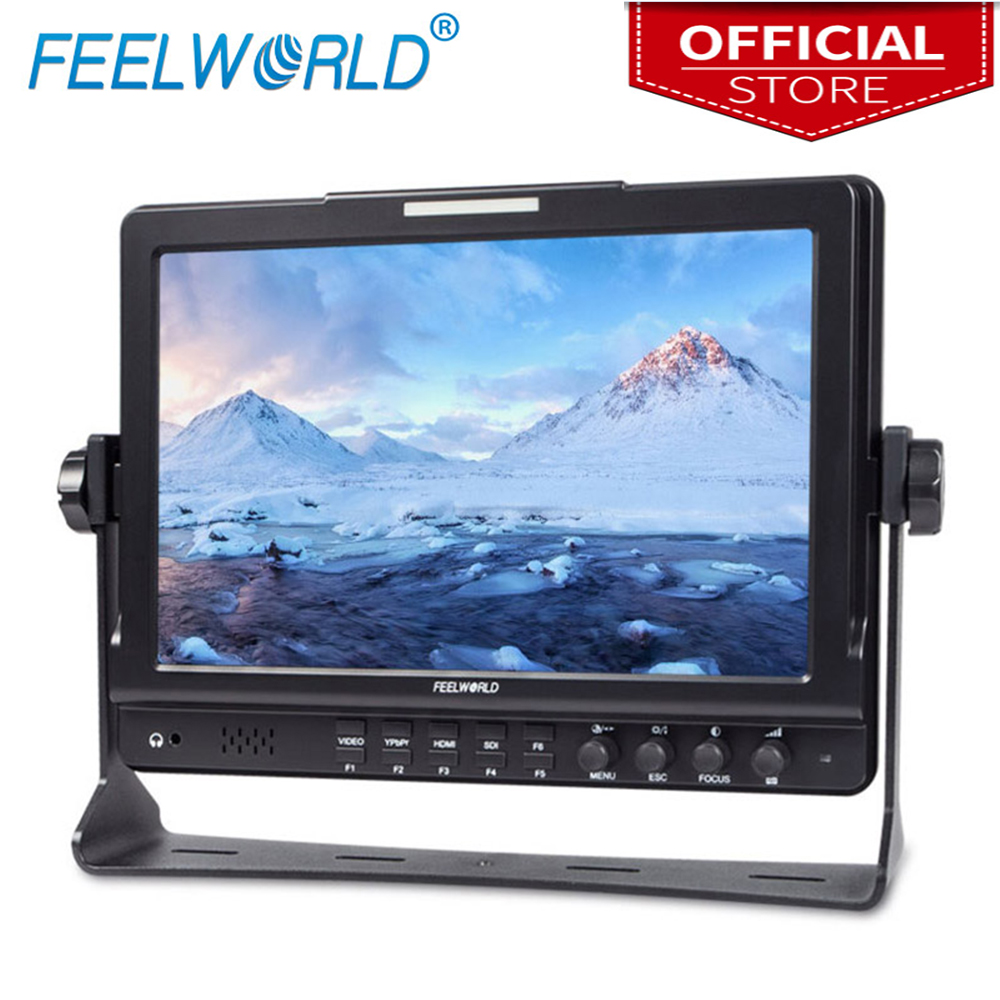Feelworld FW1018SPV1 10.1 Inch Field Monitor With Histogram IPS 3G-SDI HDMI Photography Studio Camera Top External Monitor