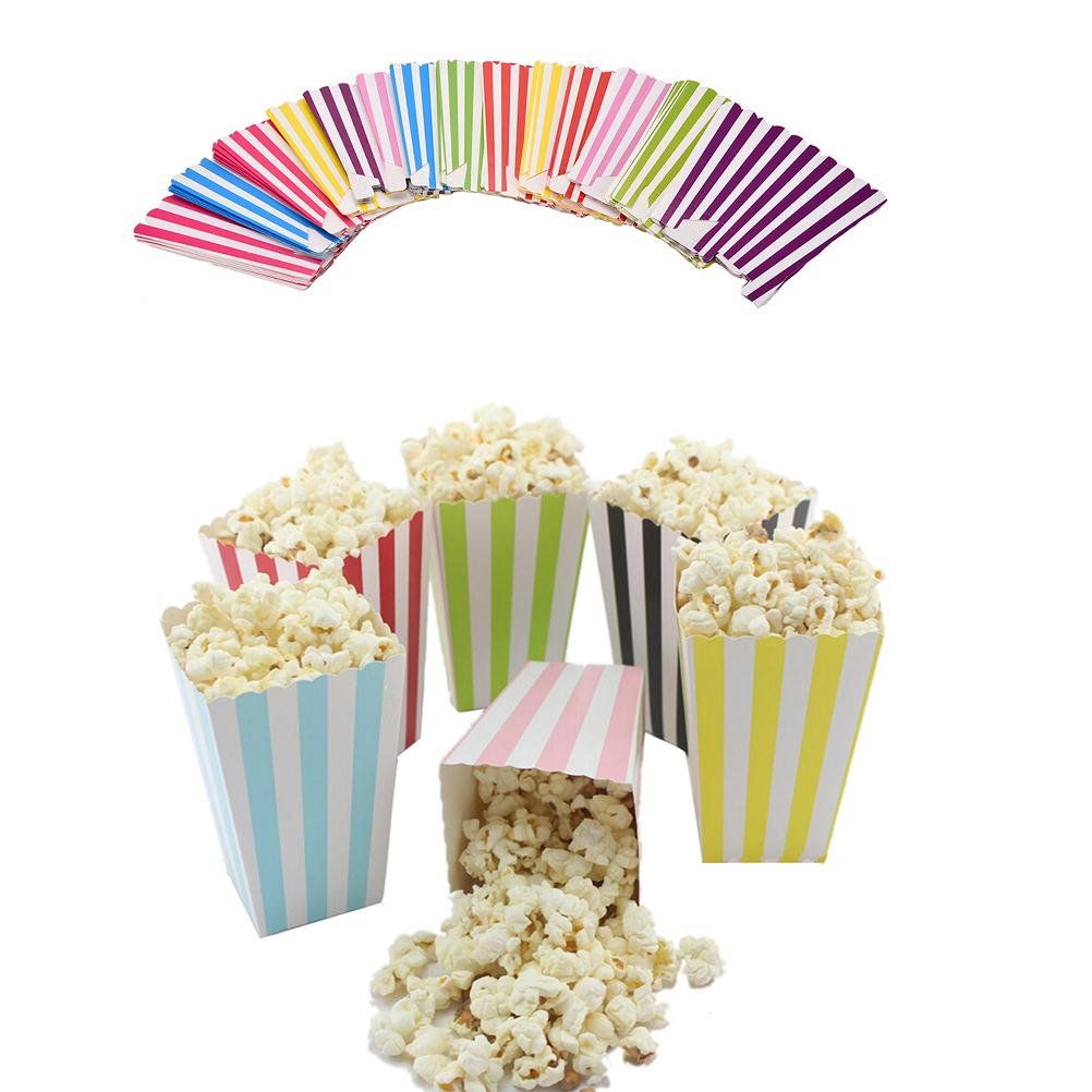 12Pcs Colorful Paper Popcorn gift candy movie Boxes Loot bags kids ...