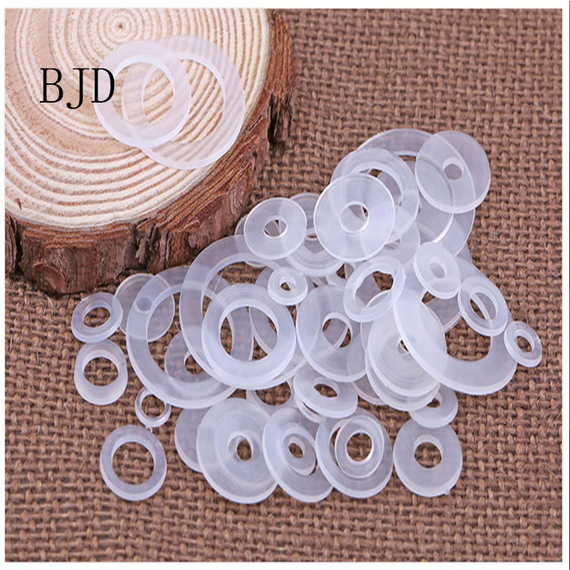 все цены на 100pcs M3/M4/M5/M6/M8/M10/M12/M14....20 Nylon Gasket Nylon Washer Nylon Insulated Flat Pad Soft Plastic Gasket Plastic Washer онлайн