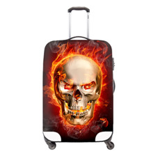Skull Waterproof Luggage Suitcases Covers Apply to Size 22-26 Inch Luggage Cases Travel Suitcase Covers