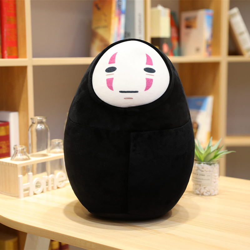 Kawaii Spirited Away No Face Neck Pillow & Hat Plush 2