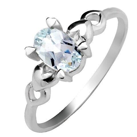 Natural Aquamarine Sea Blue Ring 925 Sterling silver Heart Woman Fashion Fine Elegant Jewelry Oval Birthstone Gift sr0287aq