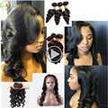 Loose Wave Frontal With Bundles Preplucked 360 Lace Frontal Closure With Bundles Malaysian Virgin Hair 3bundles And Closure