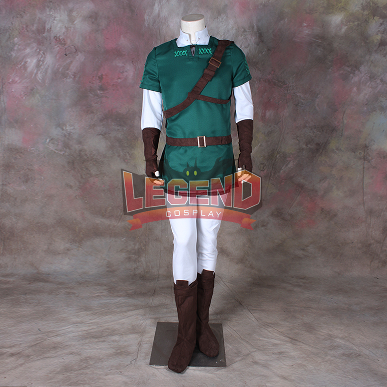 Cosplay legend The Legend of <font><b>Zelda</b></font>: Ocarina of Time <font><b>Master</b></font> <font><b>Quest</b></font> Link Cosplay costume Custom Made All size image