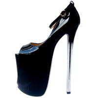 POADISFOO New Super 22cm Patent Leather Mouth 20cm Single Shoes T Taiwan Sexy Large Size women's Shoes MJL 6679 1