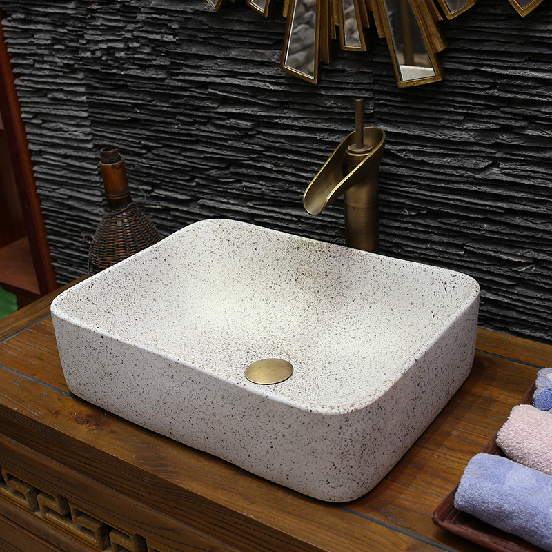 Rectangular porcelain bathroom vanity bathroom sink bowl countertop bathroom sink wash basin