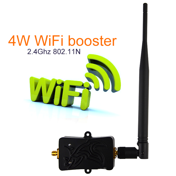 4W 4000mW 802.11b/g/n Wifi Wireless Amplifier Router 2.4Ghz WLAN Bluetooth Wi Fi Signal Booster Antenna TDD For Computer Router