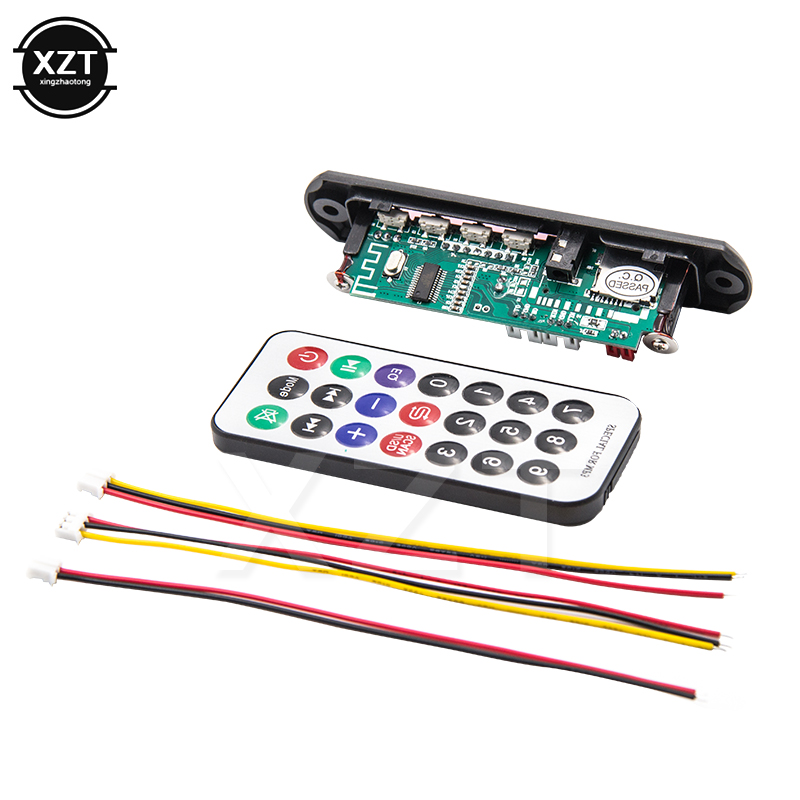hot sale Wireless Bluetooth 12V MP3 WMA Decoder Board Audio Module USB TF Radio For Car speaker <font><b>LCD</b></font> <font><b>Screen</b></font> Remote Controller image