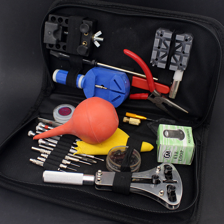 27pcs in 1 Set Watch Repair Tool Kit Set Watch Case Opener Link Spring Bar Remover Screwdriver Tweezer  WR1003 144 in 1 watch repair tool kit set watch case opener link spring bar remover screwdriver tweezer professional watchmaker device