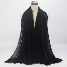 18 Colors bubble plain scarf Women Soft Solid scarves hijabs Muffler shawls big pashmina muslim wrap Popular Islam Shawls Wraps