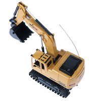 1PC Truck RC Excavator Digger Model 5CH Remote Control Constructing Crawler Electronic Engineering Truck Toy