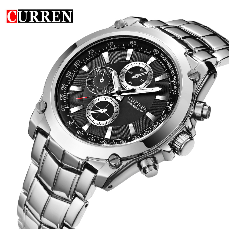 NEW CURREN Luxury Brand Men Full Steel Business Wristwatches Man Casual Waterproof Watch Quartz Watches relogio masculino 8025 weide popular brand new fashion digital led watch men waterproof sport watches man white dial stainless steel relogio masculino
