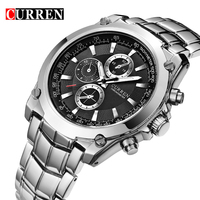 CURREN Watches Men Luxury Brand Stainless Steel Business Watches Casual Watch Quartz Watches