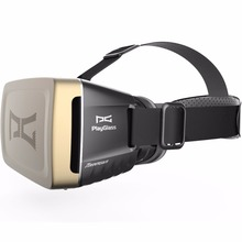 New arrival wearable devices Playglass VR BOX 3D Glasses Virtual Reality glasses helmet for 4-6inch android and iphone