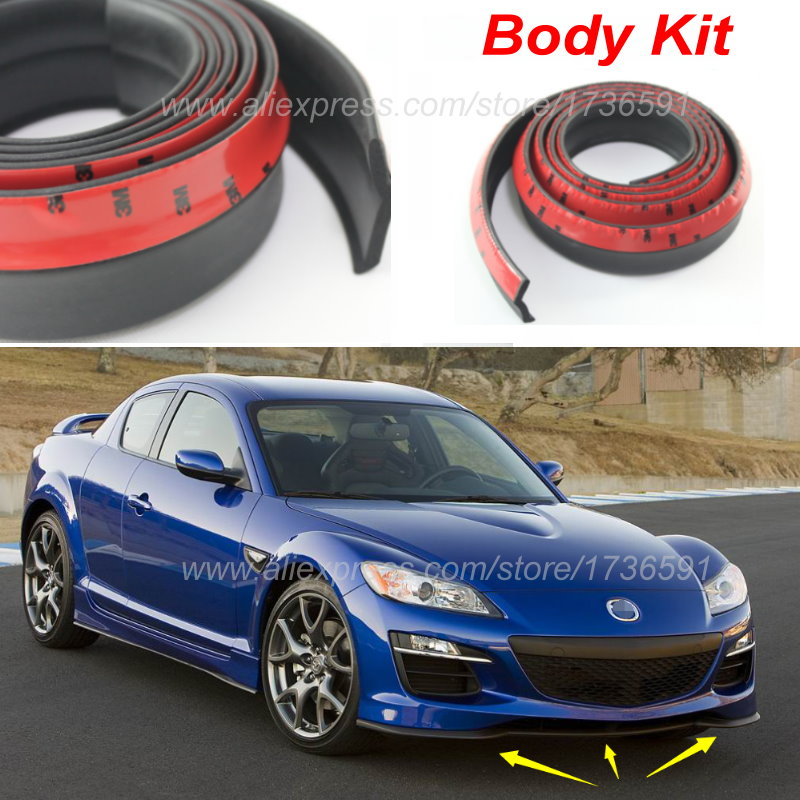 Car Bumper Lip Deflector Lips For Mazda RX-8 RX8 RX 8 / Front Spoiler Skirt For Auto to Car Tuning View / Body Kit / Strip