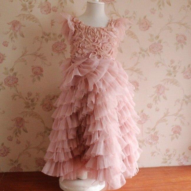 EMS DHL Free shipping new arrival Rosette Children's floral ball gowns wedding dress Kids Flower summer party dress dhl ems xpsac5121 1pcs new for sch neider free shipping d1